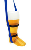 Plastic Beer Boot 1 Liter with Royal Blue Lanyard