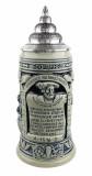 Ceramic beer stein honoring Reinheitsgebot 1516 German Beer Purity restrictions