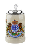 Hofbrauhaus 0.5 Liter Stoneware Beer Stein with HB Lid