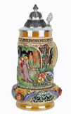 Classic Lovers Wedding Beer Stein Full Color