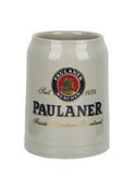 Paulaner Stoneware German Beer Mug 0.5 Liter