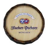 Hacker Pschorr Wooden Barrel Head Sign