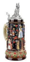 Wedding German Stein with Pewter Lid