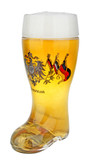 Deutschland Eagle and Flags Glass Beer Boot 1 Liter