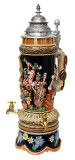 Fest Krug Oompah Band Musical Beer Stein with Working Beer Taps