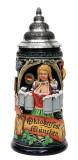 Munich Oktoberfest Ceramic Beer Mug with Handle for Holding