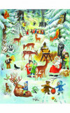 Santa, Children and Woodland Animals German Advent Calendar