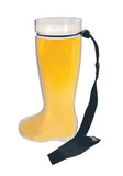 Plastic 1 Liter Beer Boot with Black Lanyard