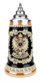 Deutschland Eagle Cobalt Gold Multi Color Beer Stein