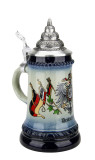 German Eagle and Crown Coat of Arms Beer Stein | 0.25 Liter
