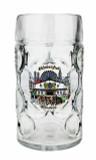 Personalized 1 Liter Oktoberfest Beer Mug with Munich  Painting