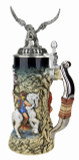 Griffon Beer Stein with 3D Griffon Pewter Lid