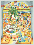 Santas Toy Shop German Advent Calendar