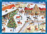Christmas at the Horse Stable German Advent Calendar