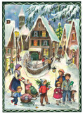Nostalgic Village at Christmas German Christmas Advent Calendar