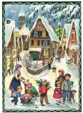 Classic Christmas Village Scene German Advent Calendar