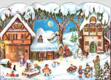 Winter Country Scene German Christmas Advent Calendar
