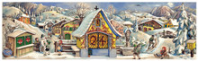 German Christmas Countdown Advent Calendar 1952 Alpine Chapel
