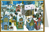 German Town German Christmas Card