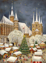 Christmas Market Erfurt Cathedral German Advent Calendar