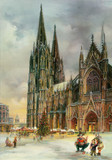 Detailed Cologne Cathedral Large German Advent Calendar