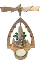 Bavarian Band German Wooden Pyramid with Hand Crafted Figures