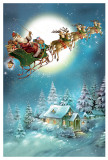 Night Before Christmas Santa Sleigh Ride German Advent Calendar