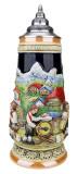 Alpine Oompah Band Beer Stein   1 Liter