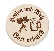 Beer Mug Cover with Hopfen und Malz stamped decoration