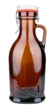 Hops & Wheat Embossed 1L German Beer Growler with Flip Top