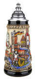 Germany Panorama Beer Stein Rustic