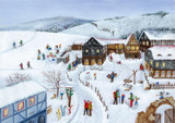 Enchanting Winter Scene German Christmas Advent Calendar