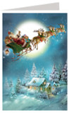 Night Before Christmas Santa Sleigh Ride German Advent Calendar Christmas Card