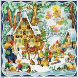 Santas Gingerbread House German Christmas Advent Calendar
