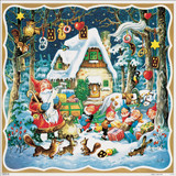 Santas Forest House German Christmas Advent Calendar