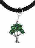 Fruit Tree German Pewter Dirndl Necklace