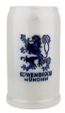 Lowenbrau Brewery 1 Liter Salt Glaze Stoneware Beer Mug