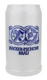 Hacker Pschorr Brewery 1 Liter Salt Glaze Stoneware Beer Mug