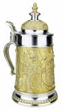 Land of Bavaria Pewter Beer Stein Golden Finish