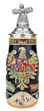 Deutschland Legacy Beer Stein with Beer Maiden Lid