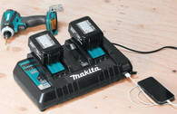 Makita DC18RD Lithium-Ion Dual Port Battery Charger w/ USB for Mobile Devices