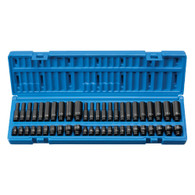 """Grey Pneumatic 9748 1/4"""" Drive Standard and Deep Length Surface Master Imapct Socket Set - 48 pieces"""