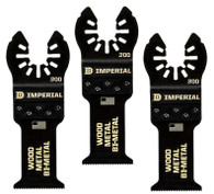 Imperial IBOA300-3 1-1/4 Inch BM Wood with Nails Saw Blades, 3 Pack