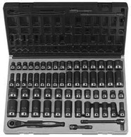 Grey Pneumatic 81259CRD 3/8 In Standard Drive and Deep Length Fractional Metric 59 Piece Duo-Socket Set