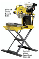 Multiquip MP1H 14 In Gas Masonry Saw - Honda GX 160 - Shown with Optional Diamond Blade and Support Stand