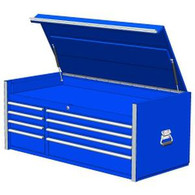 Extreme Tools RX552508CHBL 55 in. 8 Drawer Top Chest - Blue