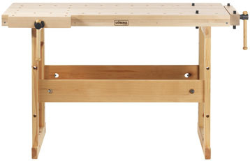 Sjobergs 33281 Hobby Plus 1340 Birch Workbench is great when you don't have the space and you need to work handsfree. It also has a double row of holes for bench dogs.
