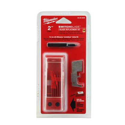 """Milwaukee 48-25-5235 2"""" Switchblade™ 3 Blade Replacement Kit are made of hardened steel for long life."""