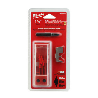 """Milwaukee 48-25-5225 1-1/2"""" Switchblade™ 3 Blade Replacement Kits are made of hardened steel for long life."""
