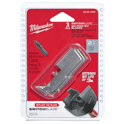 "Milwaukee 48-25-5243 2-1/4"" SwitchBlade™ Replacement Blade Kit (7 PC) are made with hardened steel to increase bit life."